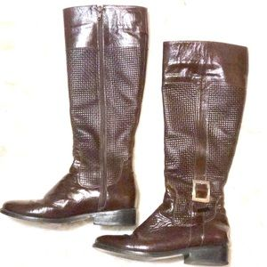 Shoes - NEW! Brown Leather Boots with Buckle